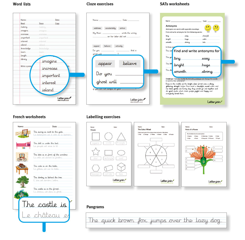 Letter-join Worksheets